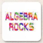 Rocas enérgicas de la álgebra posavasos de bebida
