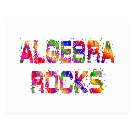 Rocas enérgicas de la álgebra tarjetas postales