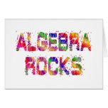 Rocas enérgicas de la álgebra tarjeton