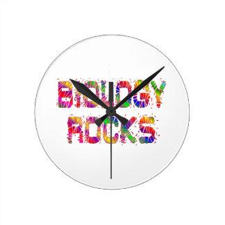 Rocas enérgicas de la biología relojes de pared