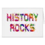 Rocas enérgicas de la historia felicitaciones