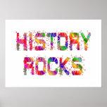 Rocas enérgicas de la historia posters