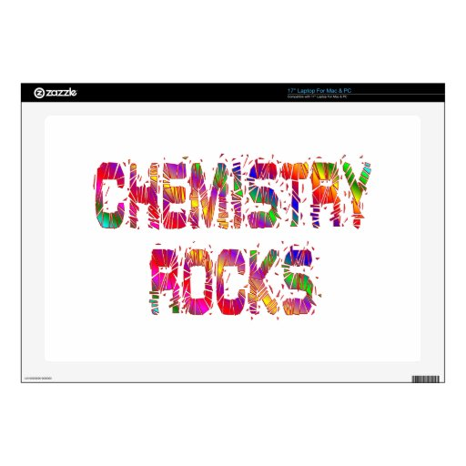 Rocas enérgicas de la química skins para portátiles