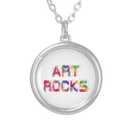 Rocas enérgicas del arte pendientes personalizados