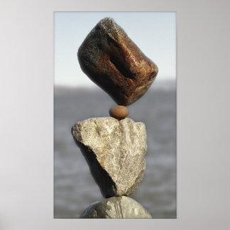 Rocas equilibradas posters