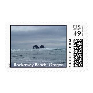 Rocas gemelas, playa de Rockaway, Oregon Sello