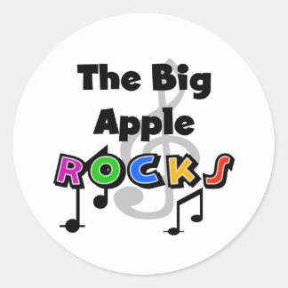 Rocas grandes de Apple Pegatina Redonda
