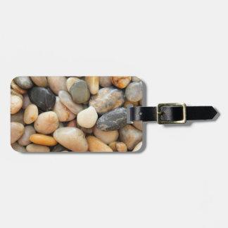 Rocas, guijarros y piedras etiquetas de equipaje