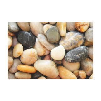 Rocas, guijarros y piedras impresión en lienzo