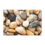 Rocas, guijarros y piedras lona envuelta para galerías