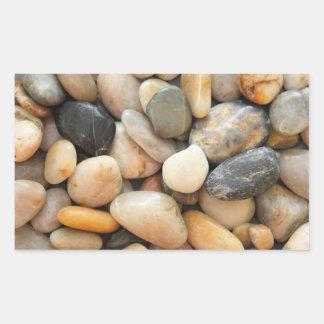 Rocas guijarros y piedras rectangular pegatina