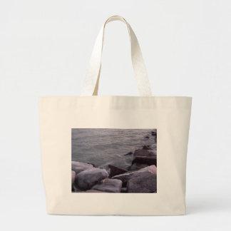 Rocas hivernales bolsa de mano