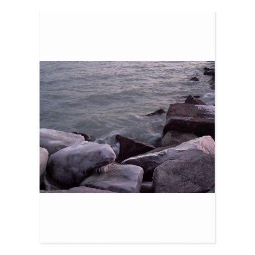 Rocas hivernales postal