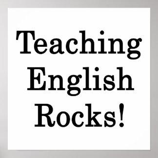 Rocas inglesas de enseñanza póster