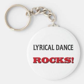 Rocas líricas de la danza llavero redondo tipo pin