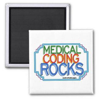 Rocas médicas de la codificación imán cuadrado