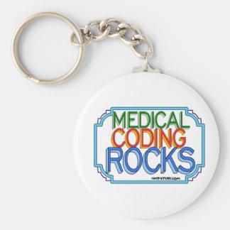 Rocas médicas de la codificación llavero redondo tipo pin