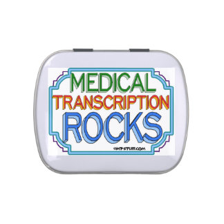 Rocas médicas de la transcripción jarrones de caramelos