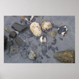 Rocas mojadas impresiones