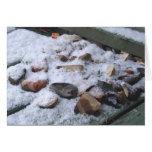 rocas nevosas tarjeta