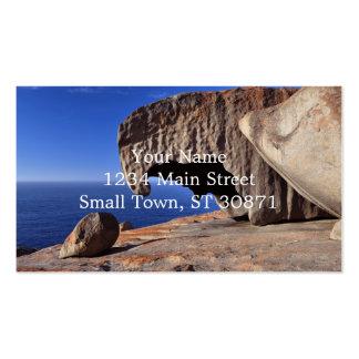 Rocas notables, isla del canguro, sur de Australia Tarjetas De Visita
