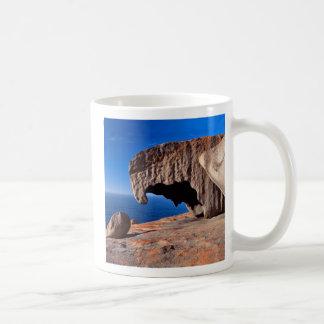 Rocas notables, isla del canguro, sur de Australia Taza