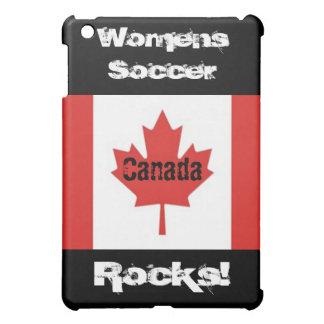 ¡Rocas para mujer del fútbol! - Bandera canadiense