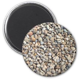 Rocas, piedras, guijarros imán redondo 5 cm