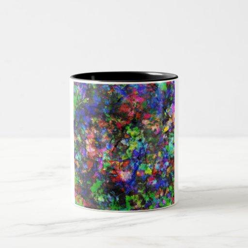 Rocas pintadas taza de dos tonos