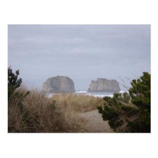 Rocas, playa de Rockaway, O postal gemela