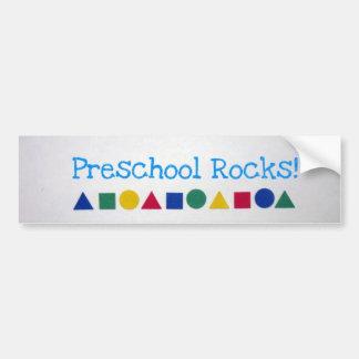 ¡Rocas preescolares! Pegatina Para Auto