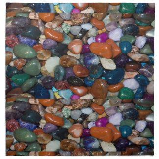 Rocas pulidas del arco iris servilleta