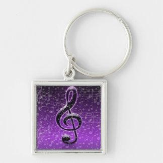 ¡Rocas púrpuras! _ Llavero Personalizado