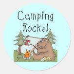 Rocas que acampan pegatina