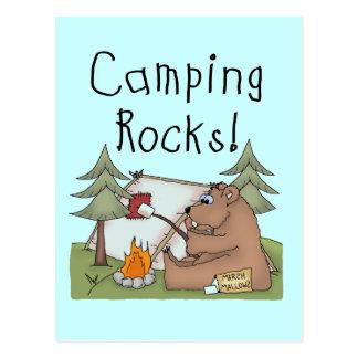 Rocas que acampan tarjetas postales
