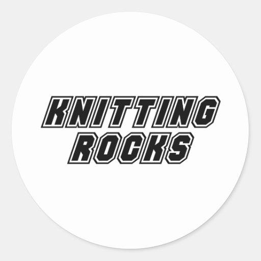 Rocas que hacen punto pegatina redonda