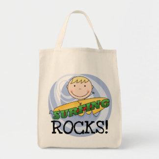 Rocas que practican surf - camisetas y regalos bolsa tela para la compra