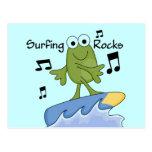Rocas que practican surf - camisetas y regalos de postal