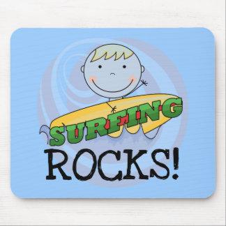 Rocas que practican surf - camisetas y regalos alfombrilla de ratón