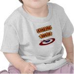 Rocas que se encrespan camiseta