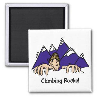 Rocas que suben imán cuadrado