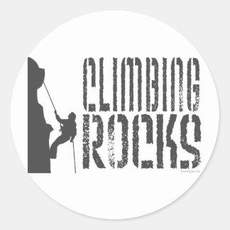 Rocas que suben etiqueta redonda