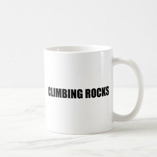 Rocas que suben taza de café