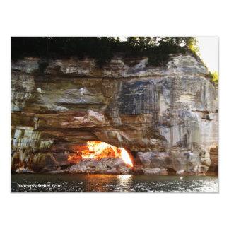 Rocas representadas 4 impresiones fotograficas