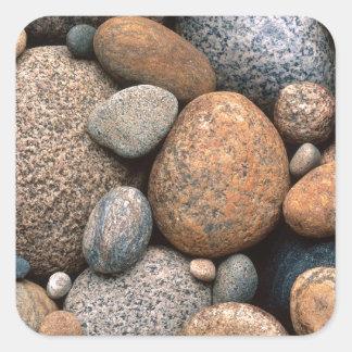 Rocas Rockin hacia fuera Pegatina Cuadrada