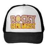 Rocas rocosas del geólogo gorras de camionero