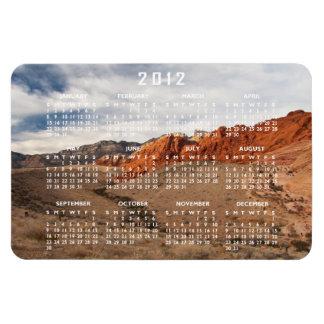 Rocas rojas brillantes; Calendario 2012 Imanes De Vinilo