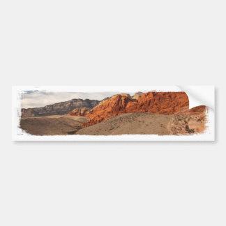 Rocas rojas brillantes; Ningún texto Pegatina De Parachoque