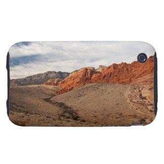Rocas rojas brillantes; Ningún texto Funda Resistente Para iPhone 3