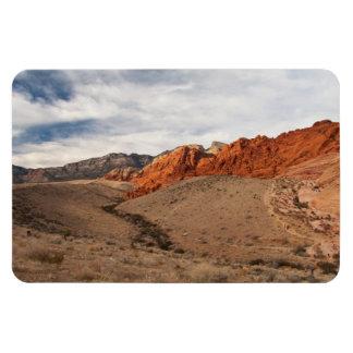Rocas rojas brillantes; Ningún texto Iman Rectangular